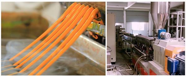 تصویر دستگاه اکسترودر، یکی از مهمترین روش های تولید مستربچ