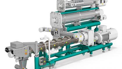 اکسترودر یک دستگاه صنعتی محفظ و ماردون شکل است که مواد گرانولی را با نیروی حرکتی و حرارتی به داخل دستگاه هدایت کرده